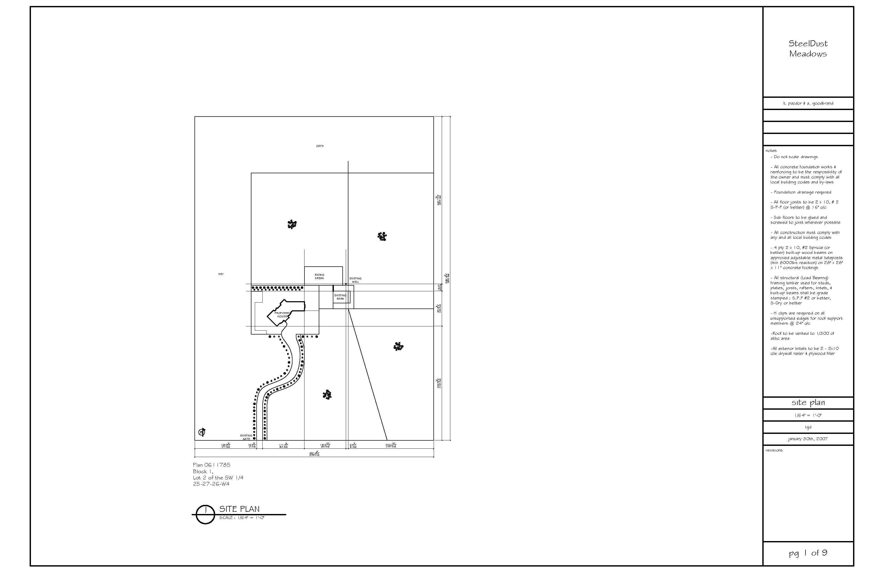 Our site plan