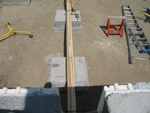 Laying out the floor beam
