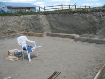 Starting to lay out the forms for the footings