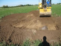 Jock continues to strip topsoil