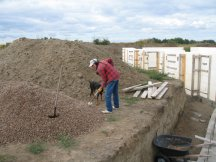 Tracy shovels gravel